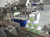 上海花草茶圆瓶贴标机