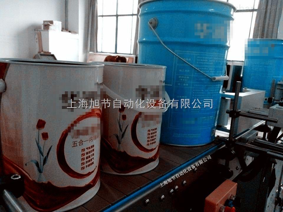 马口铁油漆桶贴标机 全自动大圆筒贴标机
