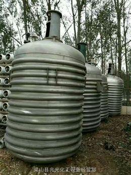 转让二手10吨内外盘管加热全不锈钢反应釜