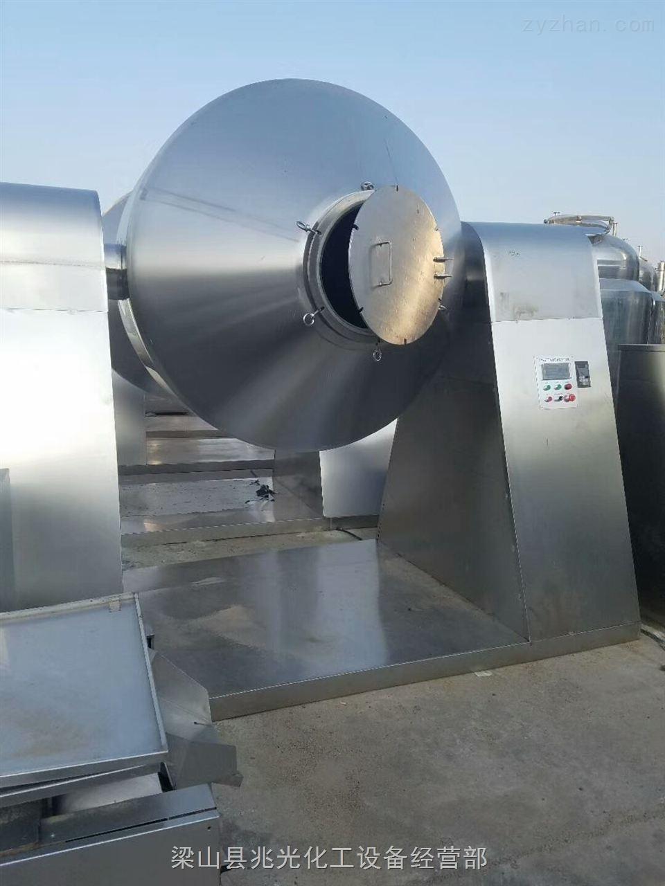 转让二手2吨搪瓷双锥回转真空干燥机2000L