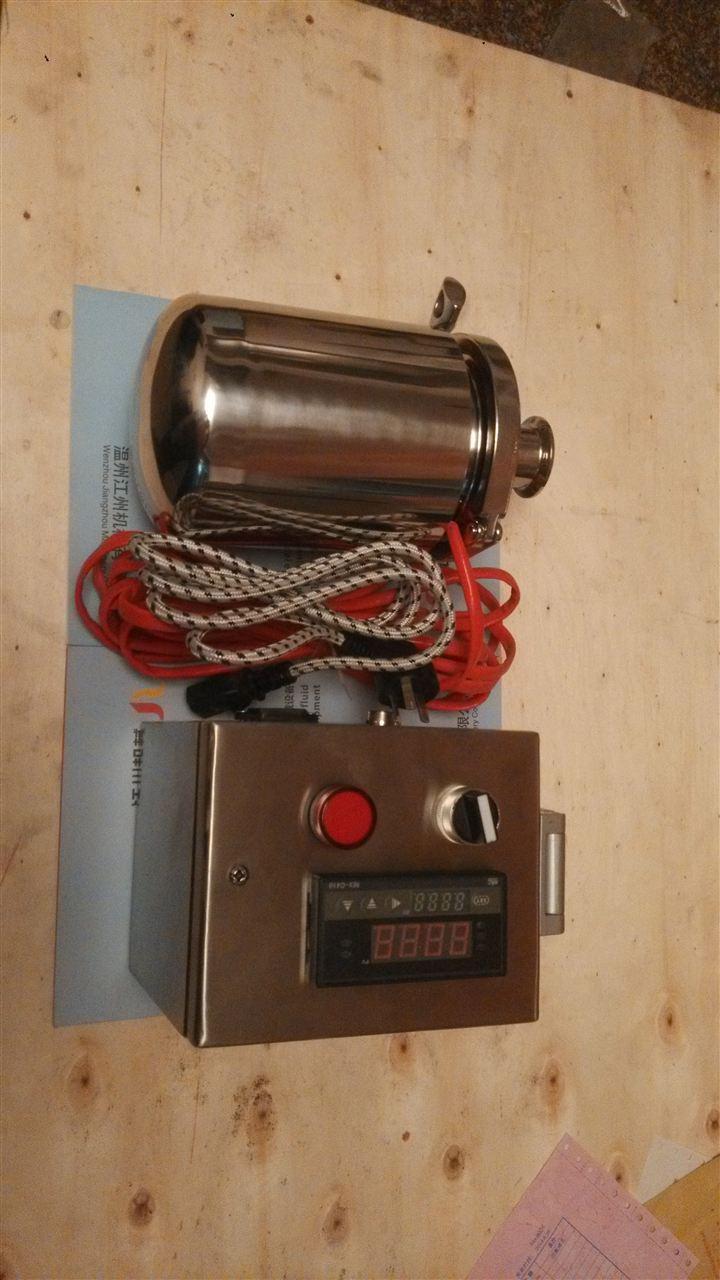 呼吸器加热器是按照gmp要求所设计,由柔性加热保温套和温度控制箱两